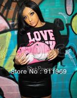 Hot sale!! PINK  Women's Hooded Sweatshirts Outwear Hoodies Ladies fashion  Coat Free shipping