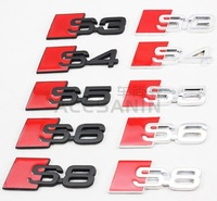 50pcs chrome metal S3 S4 S5 S6 S8 stickers emblems silver black mix  boot badge wholesale