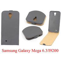 Free Shipping Cheap Flip Hard Back Cover PU Leather Cover Case for Samsung Galaxy Mega 6.3 i9200