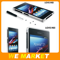Original Aluminum Metal Bumper for Sony Xperia Z1 L39H 0.7mm Ultra thin frame for Z1 retail pack 1pcs free shipping