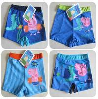 Retail! 1PC free shipping Peppa pig children swimwear cute cartoon kids boy's swimming trunks beach wear