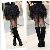 Free shipping 9349 new five layers of lace skirt gauze skirt culotte skirt cake