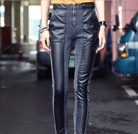 Gray spell skin more elastic foot Trousers bootcut Pencil Pants Europe and American  style Women Jeans