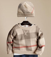 New 2013 autumn winter baby infant clothing set soft boys clothes cotton long sleeve plaid knitted sweater + cap ,High qulity