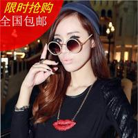 Fashion full rhinestone red lips vintage short necklace design accessories female