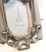 Accessories necklace vintage gem decoration necklace female short design chain