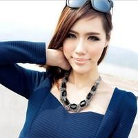 2013 popular fashion accessories vintage chain short design necklace chain necklace