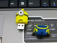 Free shipping! Very cute lovely cool Dave Kevin Stuart USB 2.0 Flash Memory Stick pen Drive U Disk 64GB 32GB 16GB 8GB 128MB