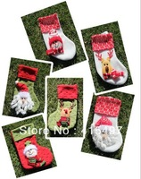 wholesale -Christmas gift  Cute little Christmas stockings Christmas supplies