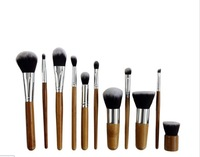 Free shipping Makeup Brush Set Kabuki Powder Foundation blusher Cosmetic Bamboo Handle with Bag Hot Sale