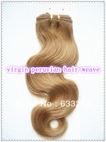 "Free Shipping 5a Grade Virgin Peruvian Hair Extension Body Wave Human Hair Weave 12""-28'' 1pc lot"