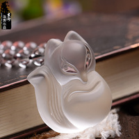 AAA   Named crystal natural white crystal fox pendant fox pendant necklace anti lilliputian