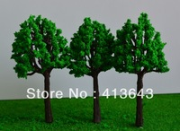 100pcs  8cm Scenery Landscape Train Model Scale Trees