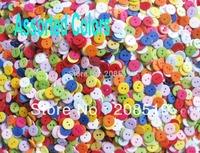 "NB016 DIY craft scrapbooking buttons 3/5"" 1000pcs Mixed randomly round 2 holes button"