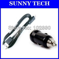 2 in 1 kit charger Micro USB sync cable + mini car charger for Samsung Galaxy S4 I9500 S3 i9300 S2 N7000  N7100  free shipping
