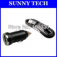 2 in 1 kit charger Micro USB sync cable + mini car charger for Samsung Galaxy S4 I9500 S3 i9300 S2 N7000 I9082 N7100 S7562