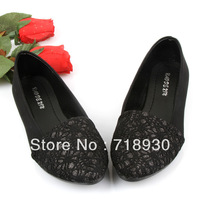 2013 single shoes flat heel shoes cute princess flat pointed toe color block decoration female shoes  3color size:6-8.5