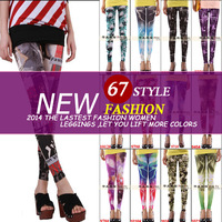 sexy van ! leggins for women black pantyhose tights skull fitness leggings muscle strecth warm flag hips print galaxy push size