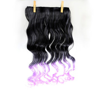 11Color FreeShipping Retail/wholesale women's fashion KANEKALON synthetic 5 clip hair pieces long wavy curly hair extension
