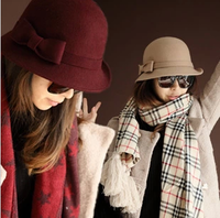 2013fashion  on hot pepper mouth wool hat winter and autumn han edition ms Sir Dome hat  B172