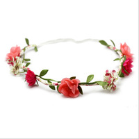 Hair accessory bride banquet halo flower wreath hair bands hair band tousheng