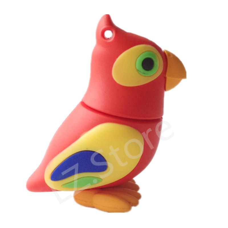 disk pendrives cartoon Pecker Bird pendrive 8gb 16gb 32gb 64gb 128gb Parrot birds usb flash drive gift pen drive memory stick(China (Mainland))