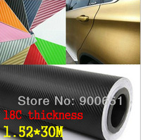 Thick 18C 3D Carbon Fiber vinyl Twill Weave Carbon Fibre Car Sticker 1.52*30m thickness:0.18mm 10colors fashion&special