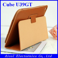 "10pcs/lot Fast ship! High Quality Protective PU Leather case Cover For Cube U39GT 9"" Tablet pc FedEx EMS"