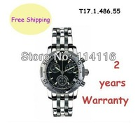 New T17.1.486.55 Multifunctional Quartz Mens Watch T17 Swiss Movement T17148655 Wristwatch + Original Box
