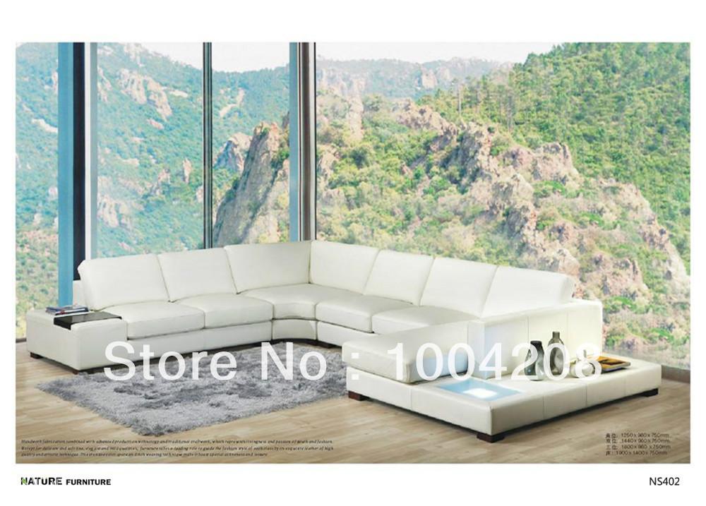 Modern style corner sofa top Genuine leather sofa living room furniture NS402(China (Mainland))