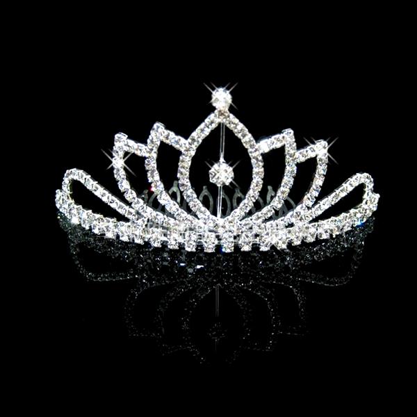 Hot Sale Tiara Baby Crown Wedding Pageant Hair Comb Head Dress Jewelry HC062(China (Mainland))