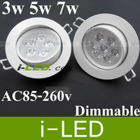 50p/lot free shipping led down light with power driver 3W 5W 7W  led downlight,ceiling led,downlight led