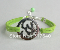 6pcs/lot! Min Order $10.0! Pick YOUR COLORS / SIZE-- Silver Om Yoga Bracelet - Meditation Yoga Jewelry - Christmas Gift