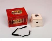 Natural wool thickening single hole box single hole wood moxibustion box wooden moxa box