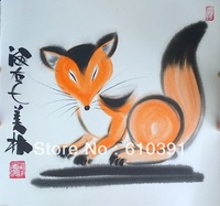 Chinese  cartoon fox painting