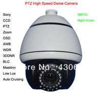 480TVL Kamepa Mini Sony CCD IR Array PTZ Zoom OSD AWB High Speed Dome Security Camera System,Camera De Seguranca Sem Fio#HSD4054