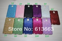 500pcs/lot Free Shipping High Quality Bling Glitter Powder Hard PC Case Back Cover for Samsung Galaxy Note 3 N9000 Wholesale