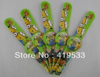 hot selling free shipping 5pcs/lot Despicable me Cartoon slap watch,children watch, best gift for kids,have in stock