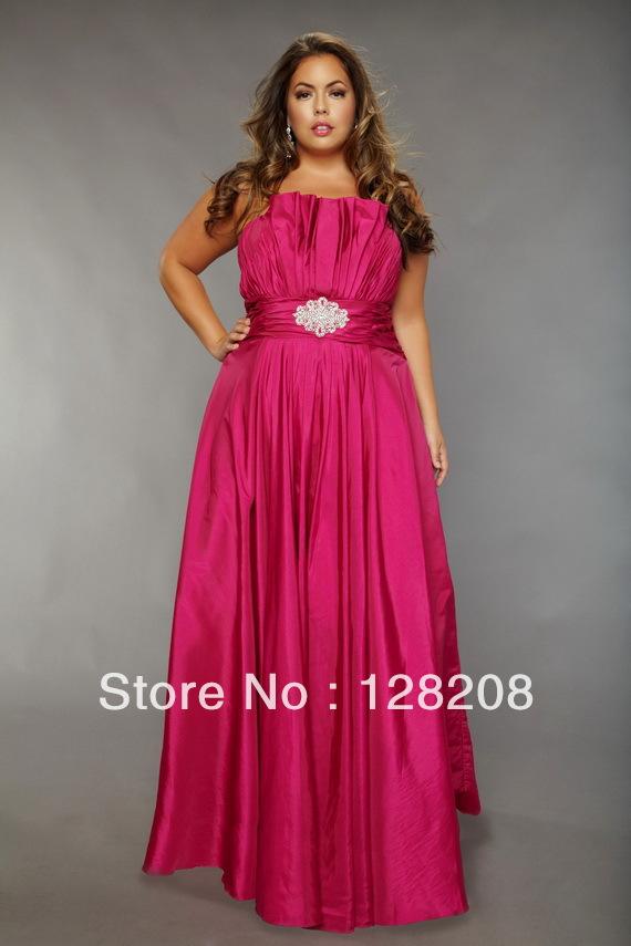 Hot Pink Plus Size Dresses - Boutique Prom Dresses