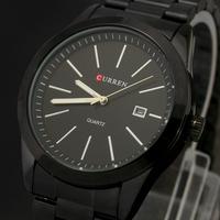 Free Shipping! WH180 CURREN Newest Wholesale Sport Water Resistant Quartz Hours Date Hand Luxury Clock Men Steel Wrist Watch