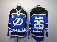 Cheap Tampa Bay Lightning hoody #26 St.Louis Blue Old Time Ice Hockey Hoodies Sweatshirts wholesale
