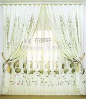 Curtain window screening anthoxanthin ink painting