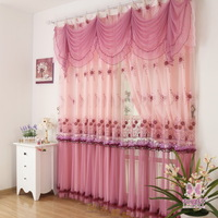 Rustic finished products lace curtain quality embroidered yarn romantic