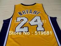 Free Shipping, men brand  24# bryant jersey best quality Basketball jersey cheap throwback uniforms,size S-XXXL