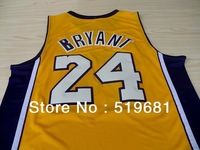 Free Shipping, men brand  24# bryant jersey best quality Basketball jersey cheap throwback uniforms,size S-XXXL