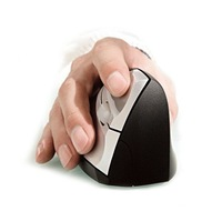 New Vertical Ergonomic Optical Wireless Mouse 1600 DPI +USB Receiver for all Computers or Laptops+ Free Shipping