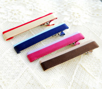 Free shipping Brief stripe clip hair accessory hairpin all-match chromophous  sizes and colors can be customized.