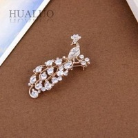 Free shipping Min.order is $10 (mix order) 2013 New Arrived Fashion Vintage Peacock Inlay Rhinestone High-grade Brooch Pin X60