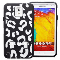 Free Shipping Samsung Galaxy Note 3 N9000 Leopard Pattern Case High Impact Hybrid Silicone Case