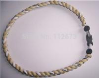 Germanium titanium 3 rope necklace,3 Braid necklace, sports necklaces